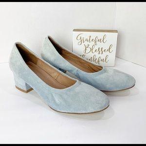Jeffrey Campbell Blue Suede Birdie Heels Size 7